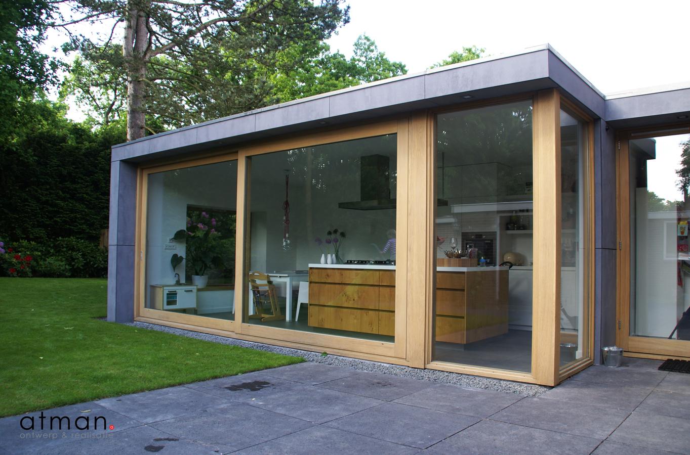 Papenburghlaan santpoort zuid atman ontwerp realisatie - Huis in de tuin ...